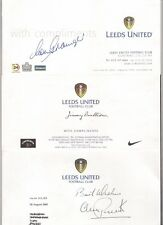 LEEDS UNITED Football Club Compliment Slip signed by JIMMY BULLIONS