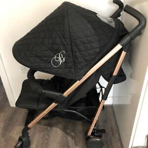 My Babiie MB 51 Black Rose Gold Frame Ex Display Stroller Lay Flat Swivel Wheels