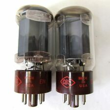 2 Vintage CBS 5881 (6L6) Brown Base Vacuum Tubes - Hickok Tested