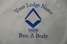 Tercentenary Enbroidered Masonic Napkin - With Your Name, Lodge Name & Number