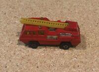 Vintage Matchbox Superfast Lesney #22 Blaze Buster Fire Truck Fire Engine 1975 +