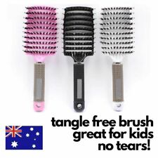 Professional Comb Hair Brush Massage Hairbrush Paddle Tangle Styling Happy Kids