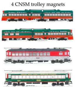 Chicago North Shore & Milwaukee 4 magnet set Andy Fletcher