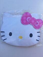 Sanrio Hello Kitty Face Shape Diecut Coin Case with Pink Bow Zipper Closure