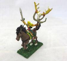 Warhammer Wood Elves Sorceress spellweaver spellsinger mounted painted oop