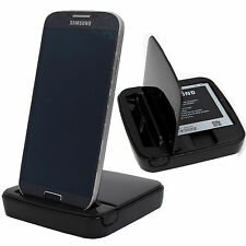 Samsung Galaxy S4 I9500 I9505 I9506 LTE Dockingstation+Akku Ladefach Ladestation