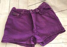 Calvin Klein Junior Stone Washed Purple PinK Denim Jean Shorts Sz 11 Made in USA