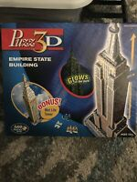 Puzz 3D Empire State Building Puzzle Glow in the Dark 2.5 Ft Met Life Advanced