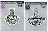 2019 STANLEY CUP FINAL & CHAMPIONS JERSEY PATCH SET ST. LOUIS BLUES SET OF TWO