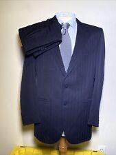 Vintage Rare LeBaron California Clothes 2 Pc Suit Navy Blue Men's 43L 35x34 Pant