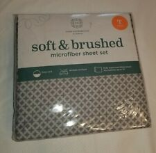 Home Expressions By JCP Microfiber Sheet Set Size Twin grey & white
