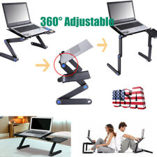 Fold-able Aluminium Laptop Desk Table - 360°Adjustable Bed Tray