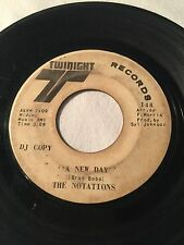 NOTATIONS: A New Day / At The Crossroads 45 RPM Record DJ COPY RARE SOUL VHTF