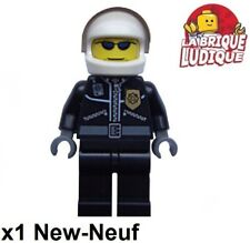 Lego - Figurine Minifig police policier Helicoptere bike moto Pilot cty0006 NEUF