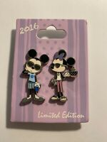 DLR Pin Of The Month Bon Vivant #4 - 2 Pin Set Mickey Minnie Pin LE (B)
