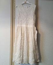 M&S Kids Girls Ivory Cornelli Dress Age 13-14 BNWT