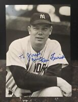 TOM FERRICK AUTOGRAPHED SIGNED AUTO BASEBALL PHOTO 5X7