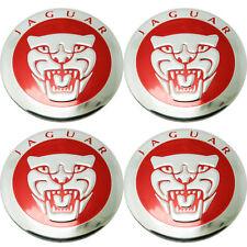 4 Ps 56mm Red Car Wheel Center Hub Cap Emblem Jaguar Badge Decal Sticker s191