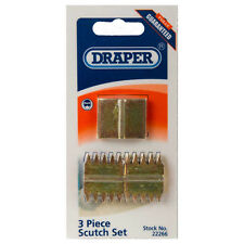 Draper Comb Scutches for Scutch Holding Chisels/Hammers Card of 3