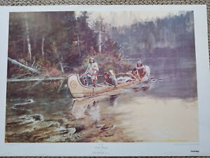 painting prints - Charles M. Russell - On the Flathead - High Quality Reprint
