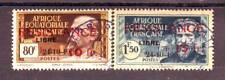 AEF paire N° 167 /168 obl , RESESTANCE LIBRE , Afrique Equatoriale Francaise