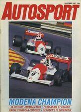 Autosport Oct 15th 1987 *Jarama F3000 & San Remo Rally*