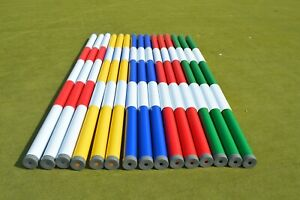 New Plastic Show Jump poles with end caps 10ft Long & 100m Dia, In 2 Colour's