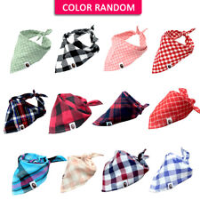 5pcs/Dot Cotton Bandana-Style Dog Collars Pet Cat Puppy Neck Scarf Neckerchief