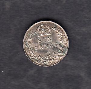 Großbritannien - Sixpence 1902 in sehr schöner Erhaltung, Silber