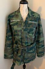 NEW! Gap Woman Utility Jacket Belt Camo Camouflage SIZE X-Small NWT!