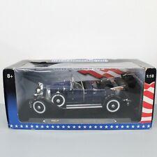 Ricko 1931 Lincoln Model K Black Blue 1:18 Diecast Model in Original Box