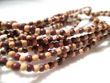 9 x Fine Ethnic Bracelets of Tan & Brown Wooden Beads