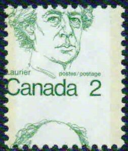CANADA– 1973- LAURIER HOR. & VERT SHIFTS- VF**