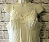 Vintage SHADOWLINE Nylon lace  Full Slip size 36 Shortie
