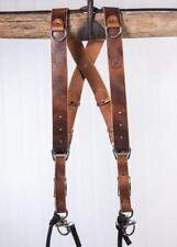 Large Tan Buffalo Leather HoldFast MoneyMaker Dual Camera Strap/Harness UK stock