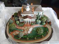 Disneyland Robert Olszewski Haunted Mansion Miniature w/3 scenes Brand New