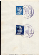 1365 CZECHOSLOVAKIA LOCAL POST TEPLICE END OF WWII SPECIAL CANCEL STAMP ON PAPER