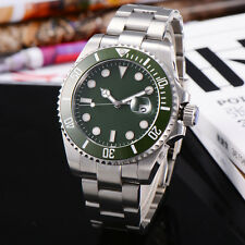 Corgeut 43mm Green Rotatable Bezel SUB Style Sapphire Glass Mens Automatic Watch