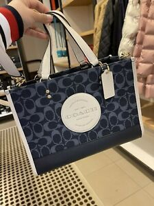 NWT COACH C2826 Dempsey Carryall In Signature Jacquard With Patch org $378