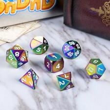 Metal Dice 7-Color Dice Set Rainbow Dice For Dungeons Kits Dragons BEST