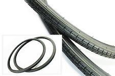 NEU 2x Fahrradreifen schwarz 28 ZOLL Fahrradmantel 1 3/8 x 1 5/8 (37-622)