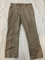BONOBOS WEDNESDAY Straight Fit Khaki Chino Pants Tan Size 35 X 30 I4