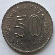 Parliament Series 50 sen coin 1986