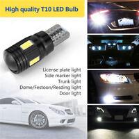 2x T10 High Power Daytime Fog White LED Lights Bulb License Plate Light 6000K