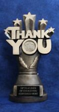 """Thank You! 9"""" Gold Resin Trophy/Statue/Gift-Words & Phrases -  Free Engraving!!"""