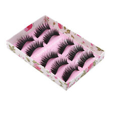 5 Pairs Fake False Eyelashes Handmade Demi Wispies Natural Long Thick Eyelashes