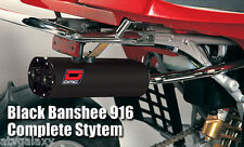 DMC 916 Exhaust System Pipe BLACK Yamaha Banshee 350 1989+ all years