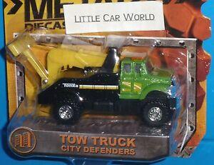 TONKA Tow Truck City Defenders Metal Discast Bodies Green NEW