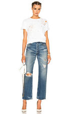 MOUSSY Vintage MV Monett High Rise Wide Straight Leg Denim Jeans Blue $333 #1100