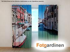 """Fotogardinen """"Venedig"""" Vorhang 3D Fotodruck, Fotovorhang, Maßanfertigung"""